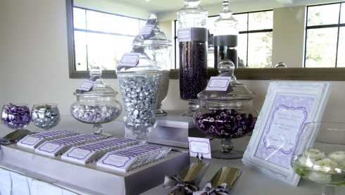 Silver, Purple and White